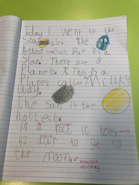 Prep students wrote about their amazing journey through starlab